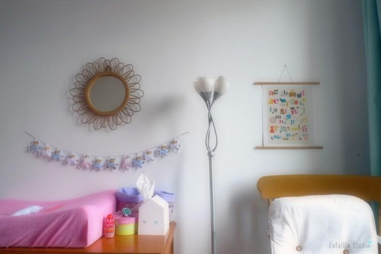 Miroir et table à langer