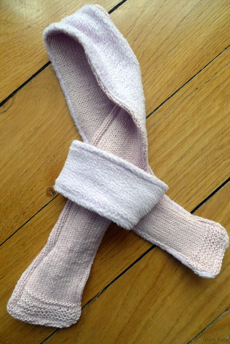 Tuto - L'écharpe tricotée et doublée pour bébé