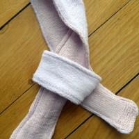 Tricot -Tuto de l'écharpe tricotée et doublée pour bébé