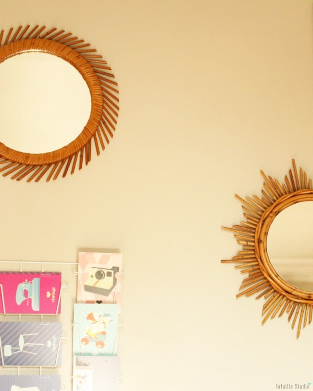 Miroir rotin chiné - Fafaille Studio