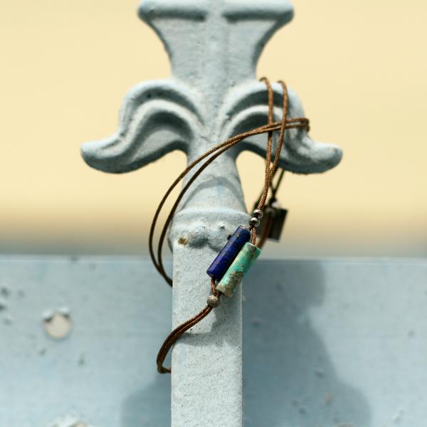 Bracelet homme pierres turquoise Rosekafé JAGH