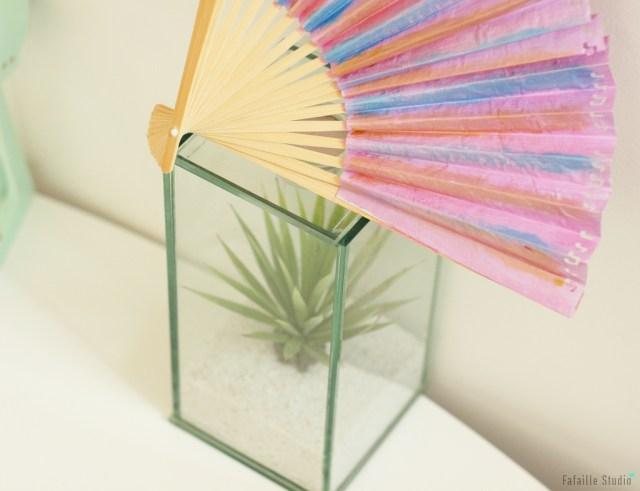 DIY éventail en papier et bois