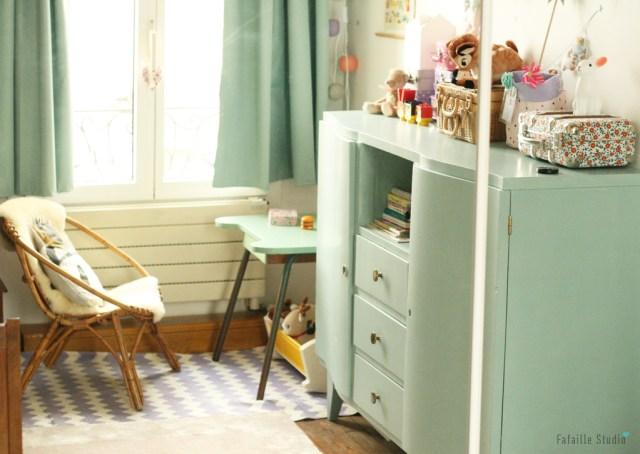 meubles vert d'eau pour chambre bébé