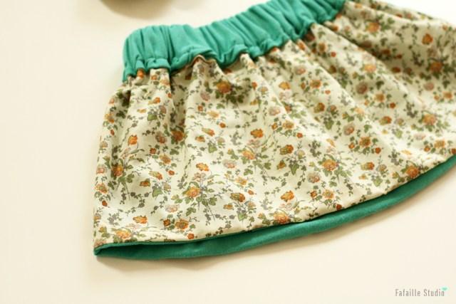 coudre une jupe élastiquée 2 ans