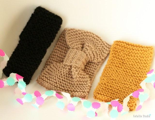 Tricoter des headband au point mousse