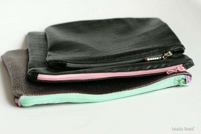 coudre une pochette zippée en cuir