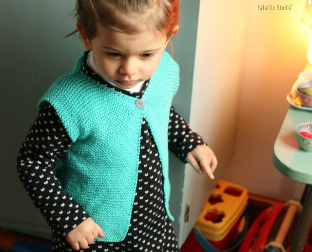 tricoter un gilet berger 2 ans