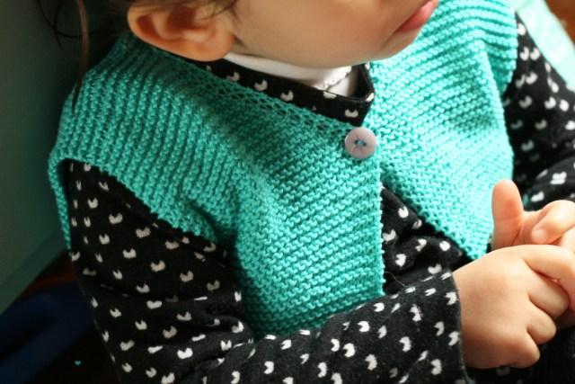 gilet berger à tricoter 2 ans