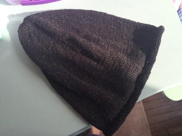 Bonnet loose tricoté en jersey