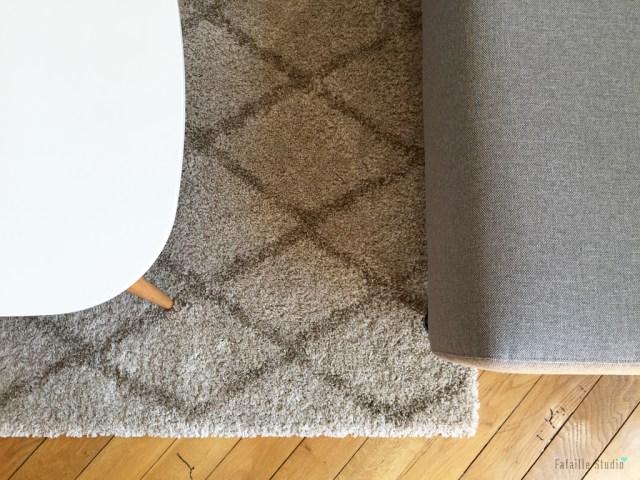 Canapé tissu gris chiné