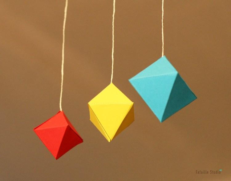DIY mobile des octaèdres