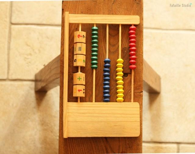 Jeu en bois Montessori chiné