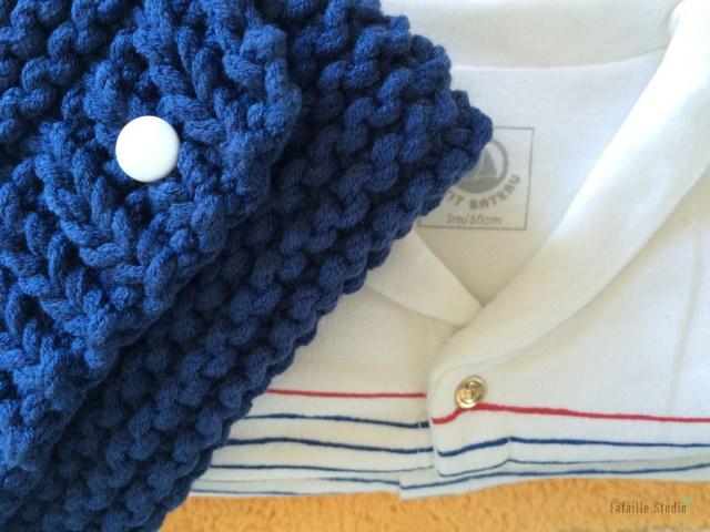 Tuto tricot pochette Matelot