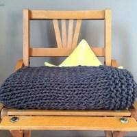 Tricot - La petite couverture à bordure