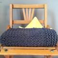 Tricoter une couverture bébé à bordure