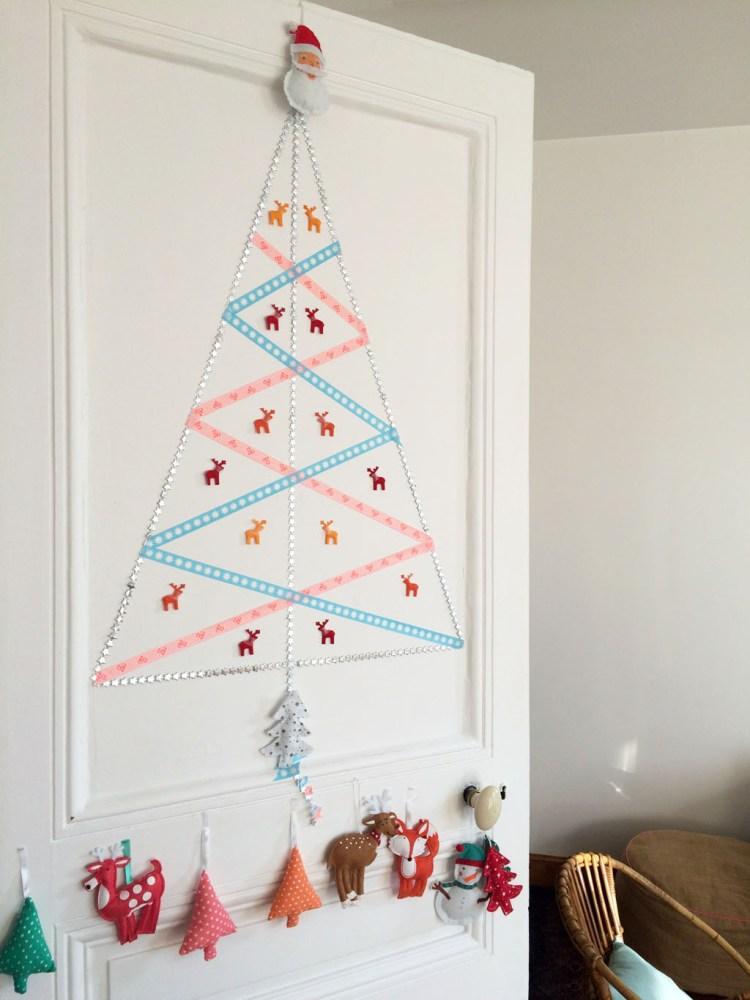 DIY sapin de Noël au masking tape