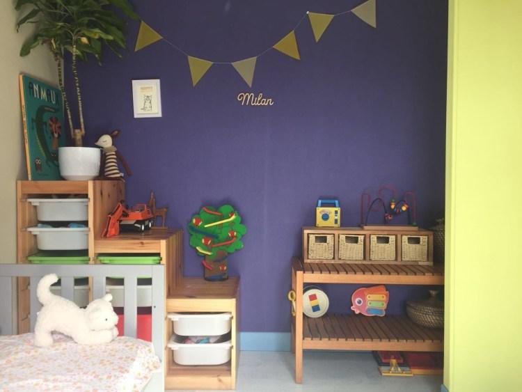étagère murale ou à poser en bois chambre d'enfant