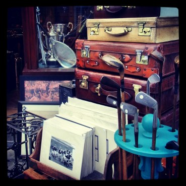 Antique shop display along Portobello Road
