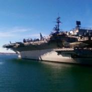 A large navy vessel