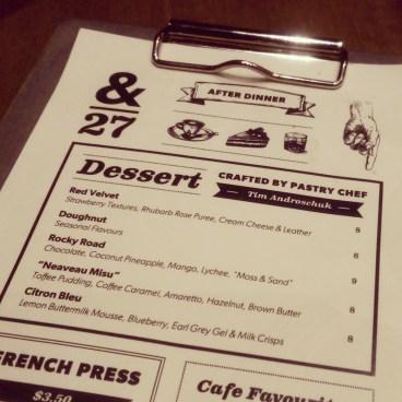 Tim Androschuk's desserts