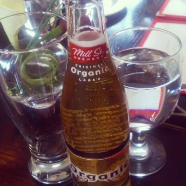 A bottle of Mill St. Organic.
