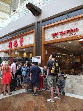 Din Tai Fung is everywhere, but always busy. They're apparently famous for soup dumplings. One day!