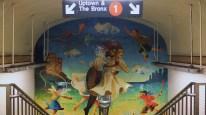 Beautiful subway mosaic