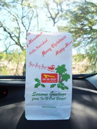 In-N-Out Burger holiday takeaway bag