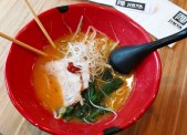 The spicy chicken ramen at Ramen Jinya.