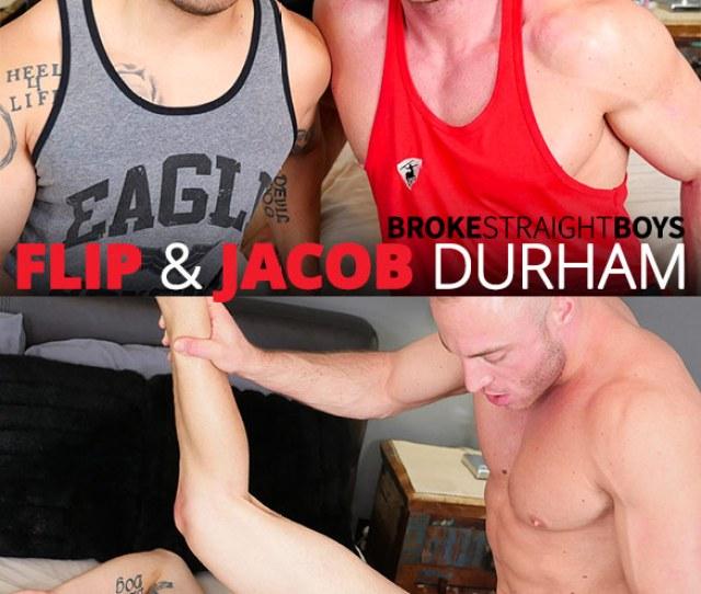Broke Straight Boys Flip Gets Fucked Raw By Muscle Stud Jacob Durham