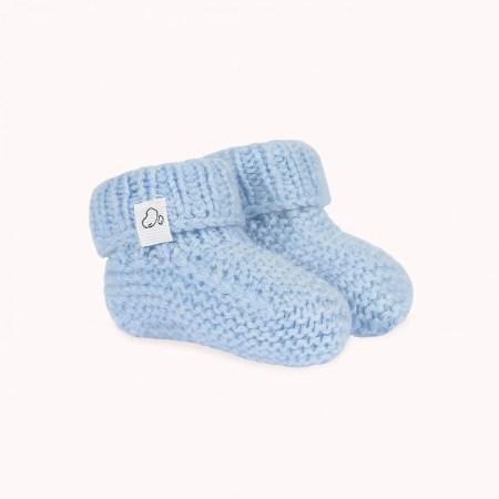 Fagiolino Cashmere Meina Baby Shoes Celeste Blue