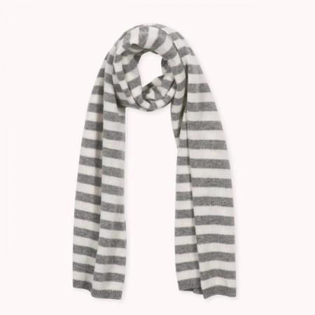 Fagiolino Cashmere Stole Stripes Zeno Grey