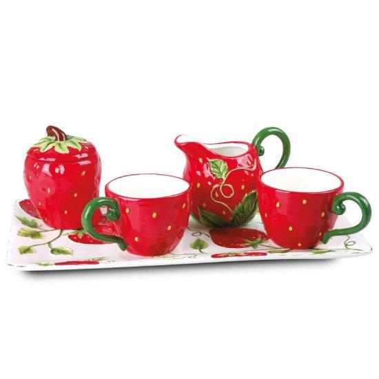 Keramički set za kafu - Strawberry