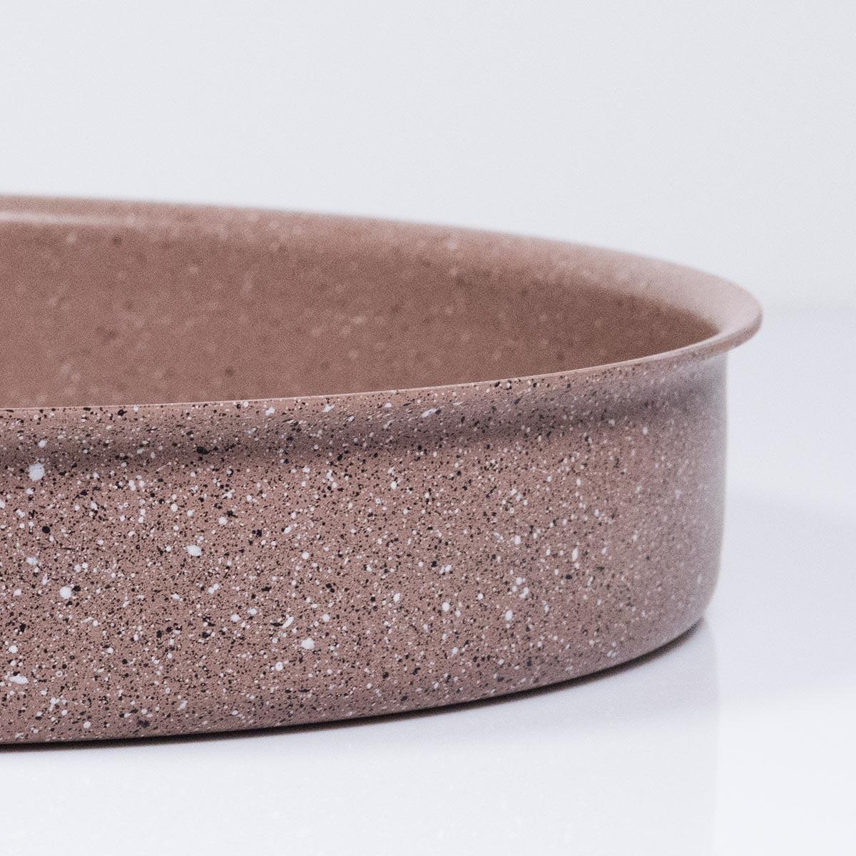 Plitka granitna posuda / tepsija - 3412 BROWN ivica posude