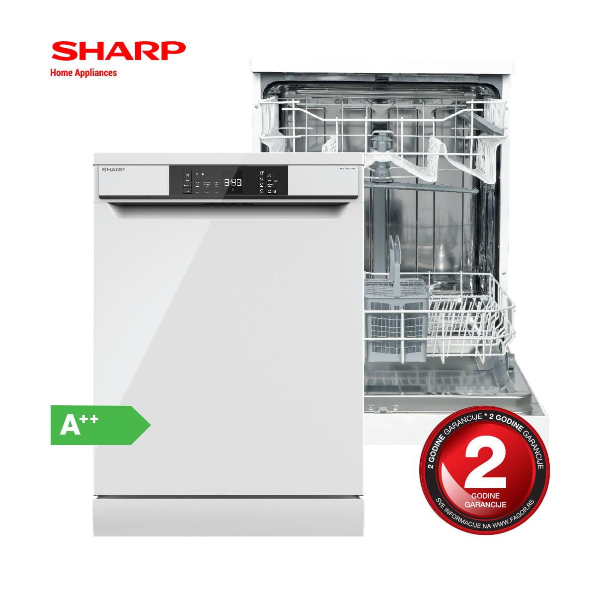 Sharp mašina za pranje sudova – QW-NA1BF47EW-EU opis 1