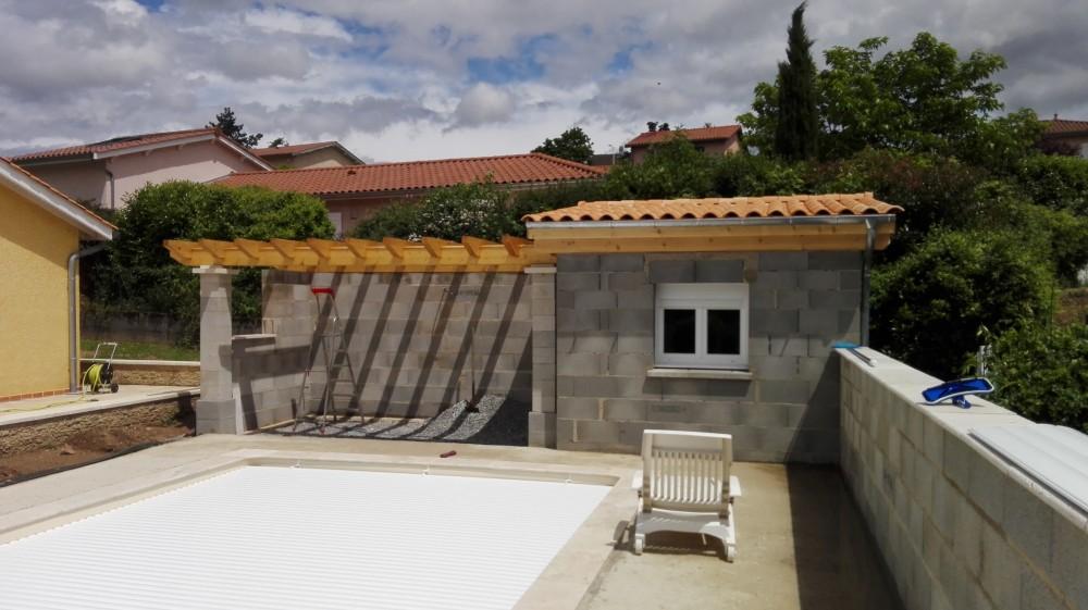 Charpente Pool House Pergola Tuile Menuiserie Fagot