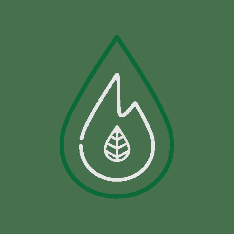 De druppel in het logo van Fagus Outdoor staat voor water en onze passie voor packraften