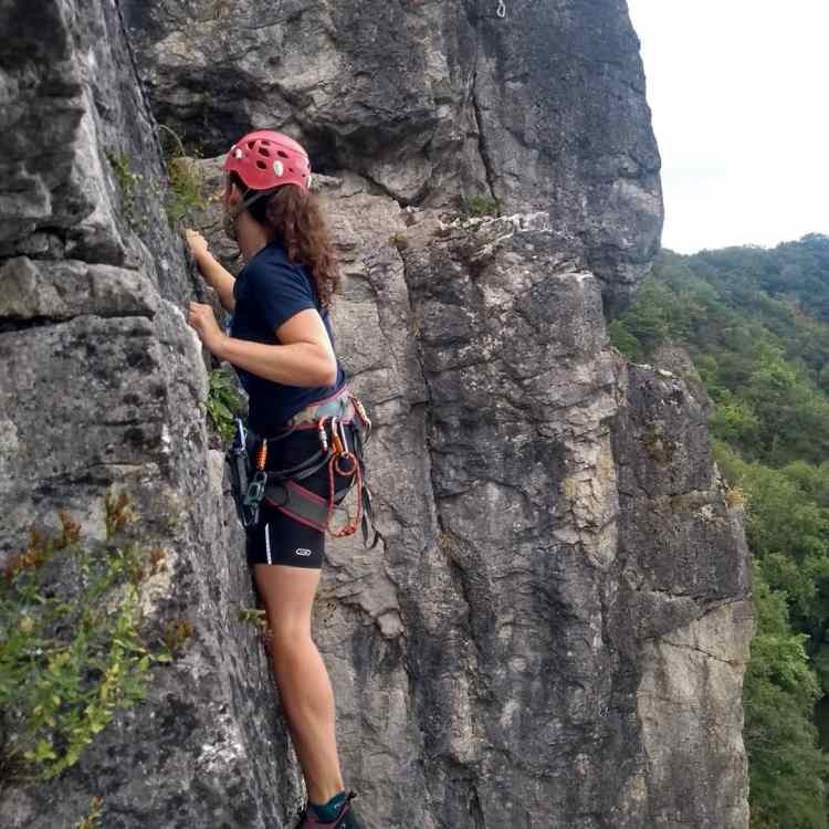 Rotsklimmen tijdens Ladies on the Rocks