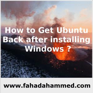 How_to_Get_Ubuntu_Back_after_installing_Windows