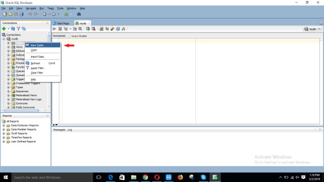 Create tables and use SELECT query using SQL Developer