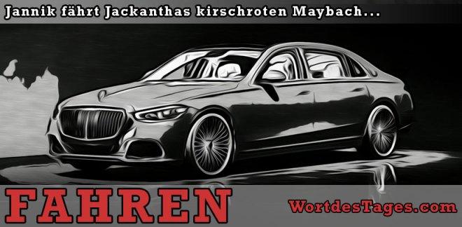 Jannik fährt Jackanthas kirschroten Maybach...