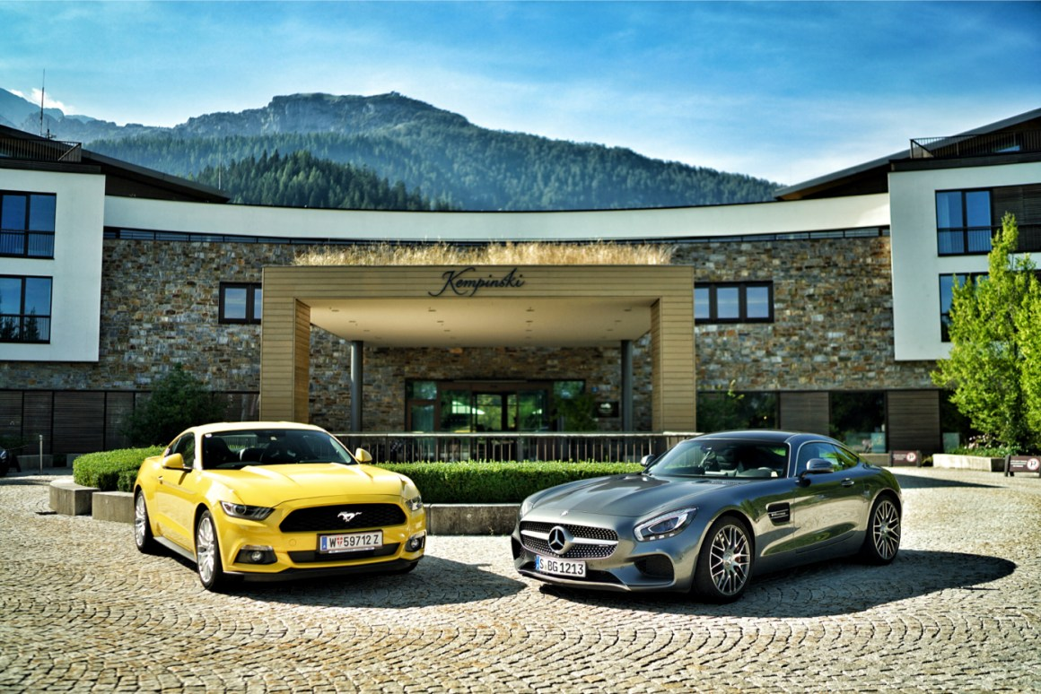 Ford Mustang & Mercedes AMG GTS