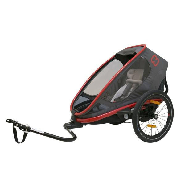 HAM400008_Outback_ONE_red_charcoal_bicycle_trailer