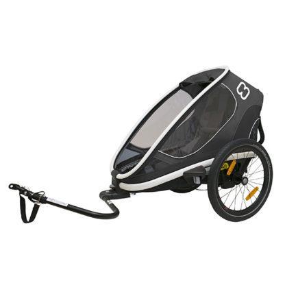 Hamax outback grau/schwarz 2020 2-sitzer Kinder fahrradanhänger