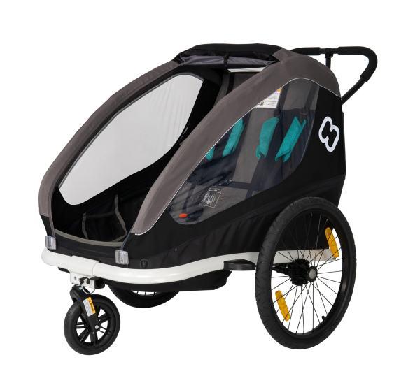Hamax Traveller Kinder Fahrradanhänger bike trailer schwarz black grey 2020 2021