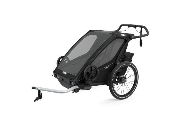 Thule Chariot Sport2 Black on black mit Deichsel
