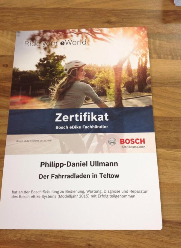 Bosch-Schulungszertifikat