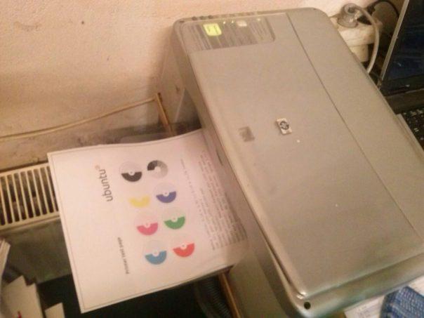 Drucker mit Testseite