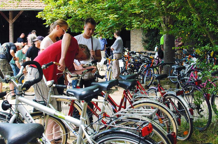 Fahrrad Börse auf dem Gelände der Alten Ziegleie in Mainz