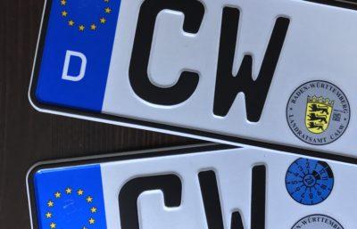 Kennzeichen aus Calw.